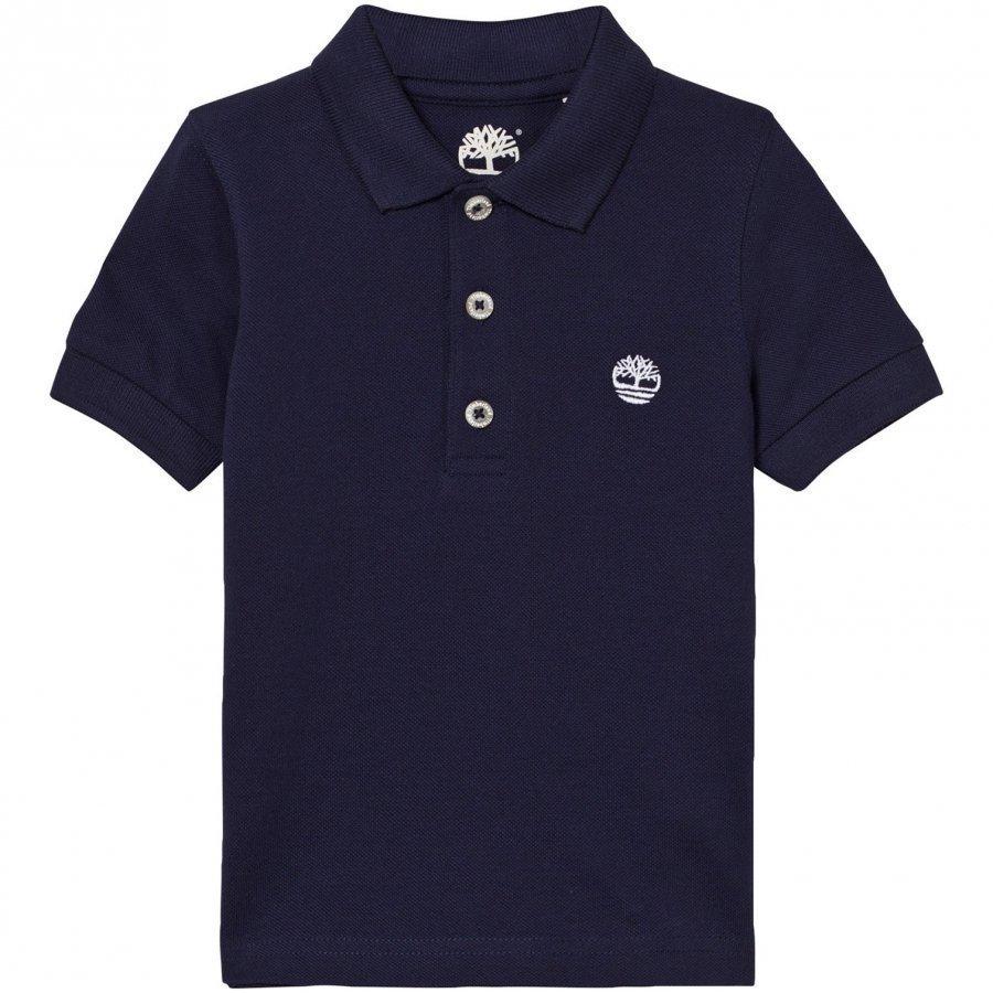 Timberland Navy Classic Branded Polo Pikeepaita