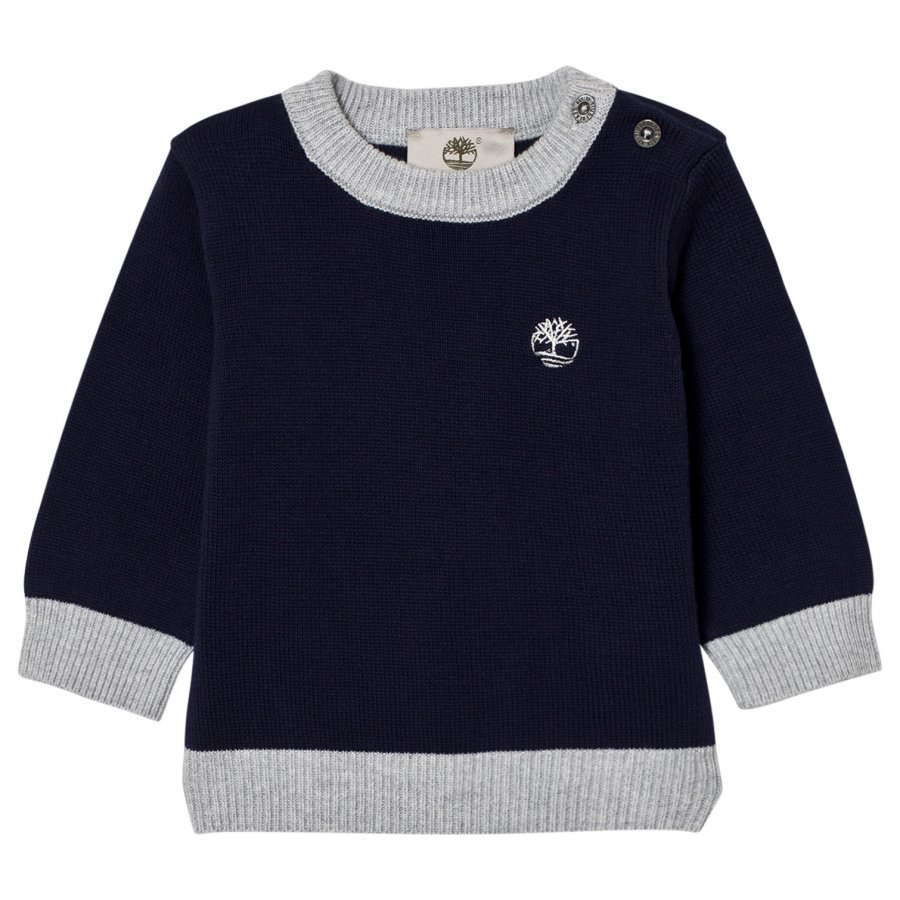 Timberland Navy Cotton Knit Sweater Paita