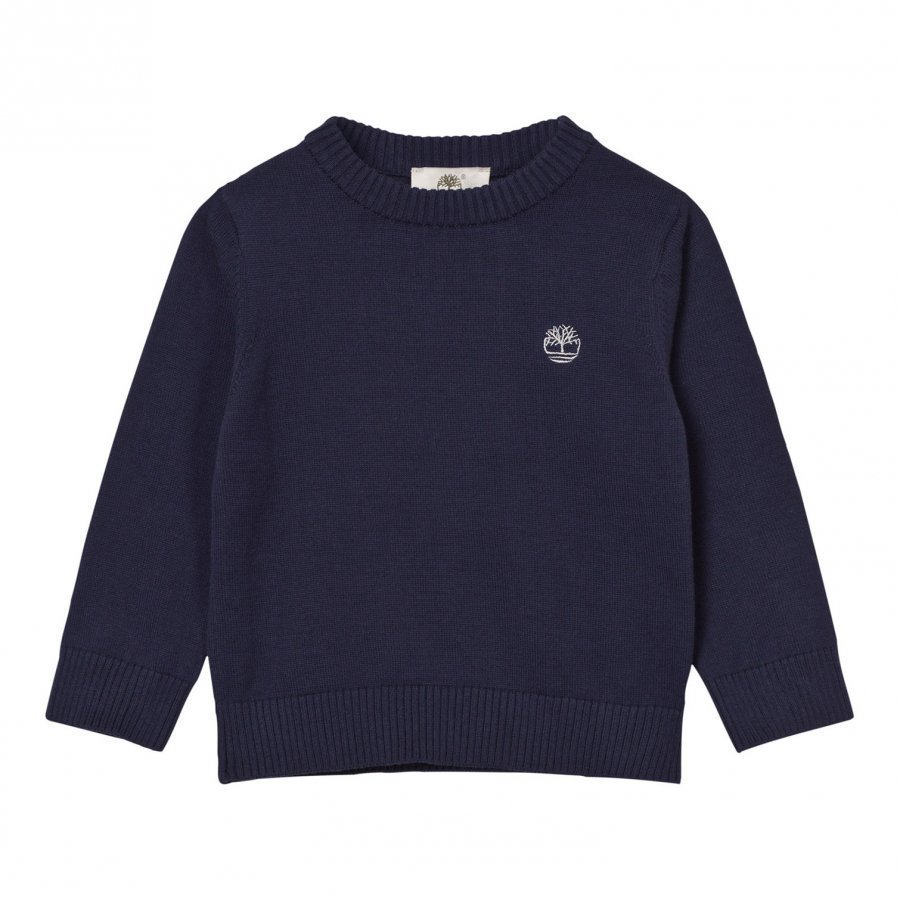 Timberland Navy Knit Branded Jumper Paita