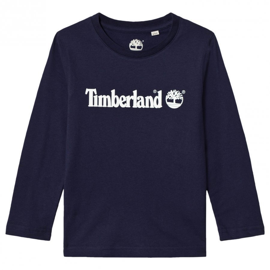 Timberland Navy Script Logo Tee T-Paita