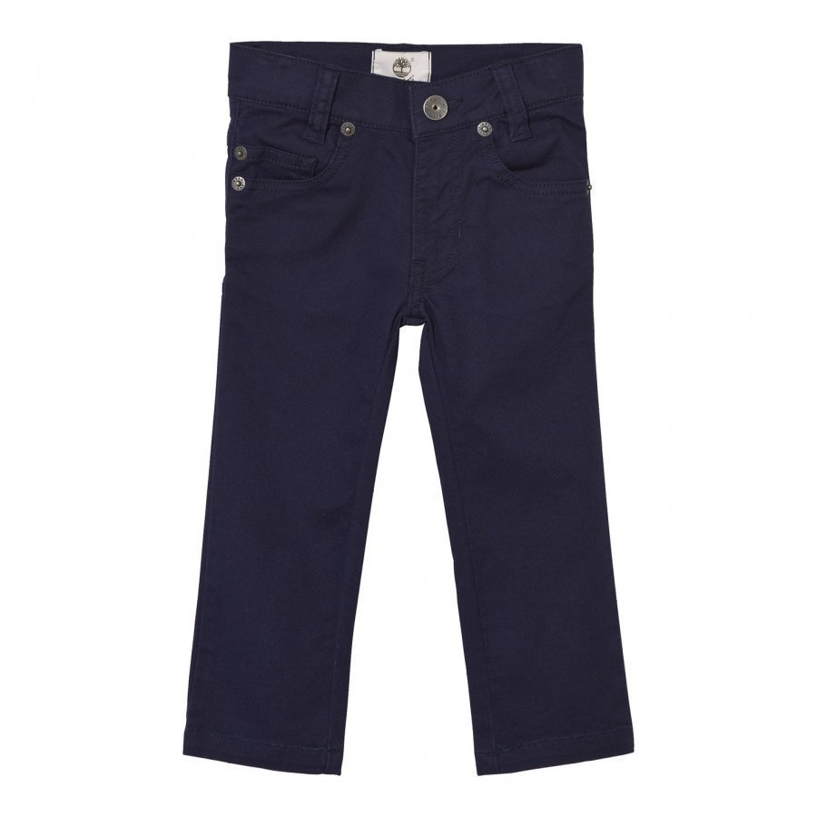 Timberland Navy Slim Fit Cotton Twill Trousers Housut