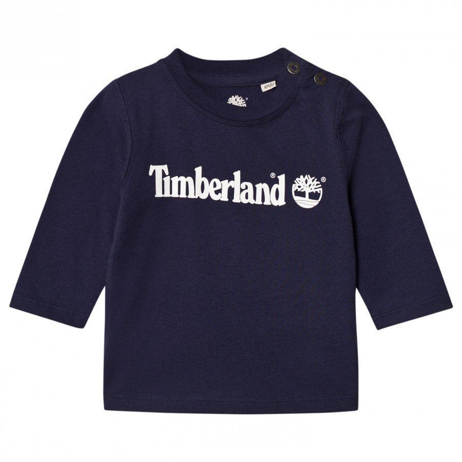 Timberland Navy Tree Logo Tee T-Paita