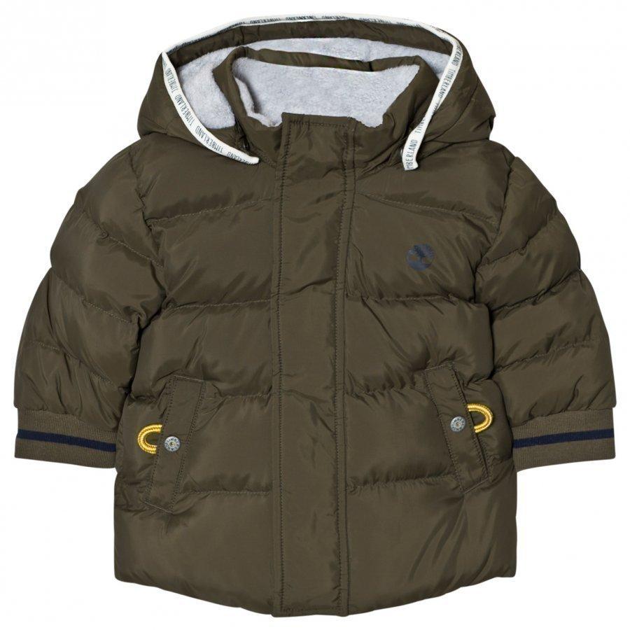 Timberland Padded Puffer Jacket Khaki Toppatakki