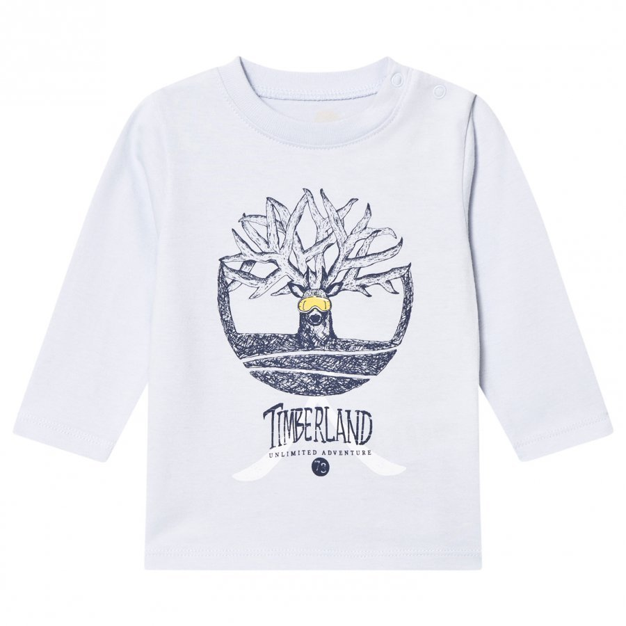 Timberland Pale Blue Tree Logo Long Sleeve Tee T-Paita