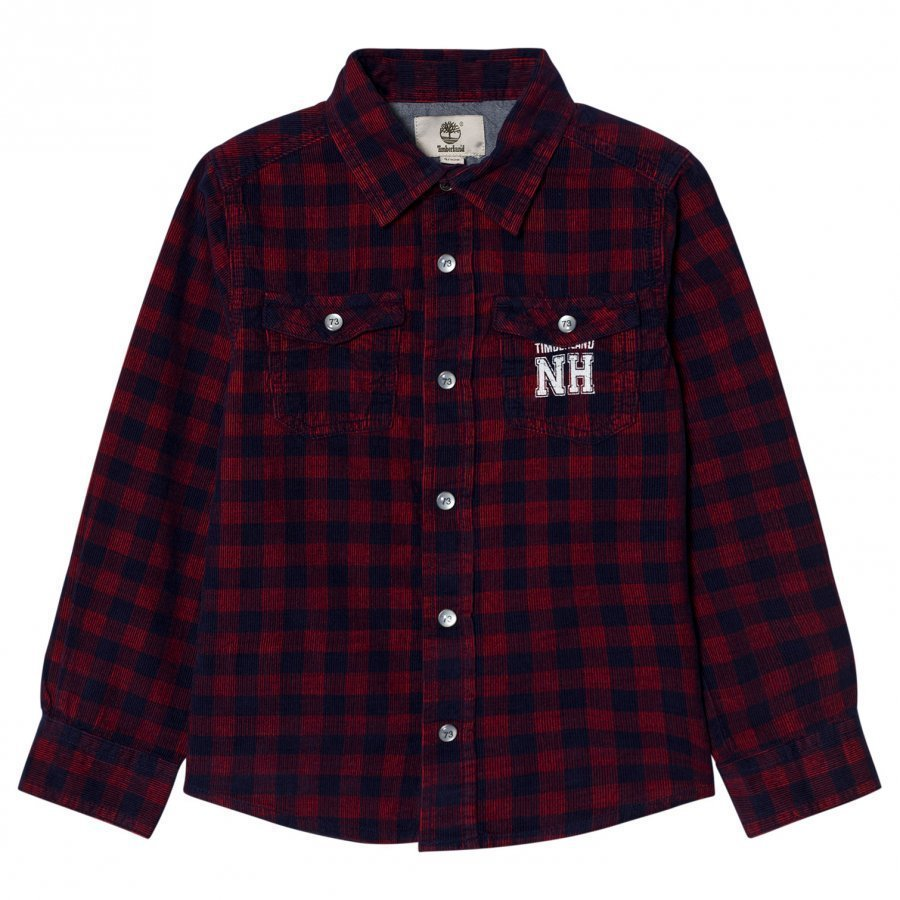 Timberland Red And Navy Check Shirt Kauluspaita