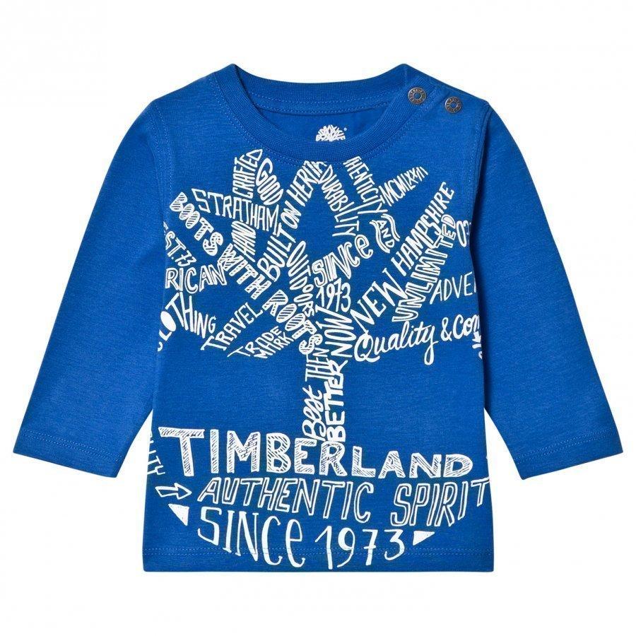 Timberland Royal Blue Script Logo Tee T-Paita