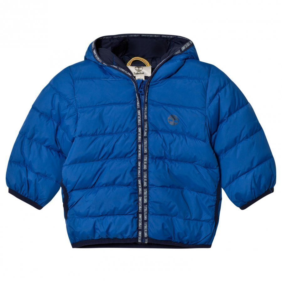 Timberland Royal Blue Ultralight Hooded Puffer Coat Toppatakki