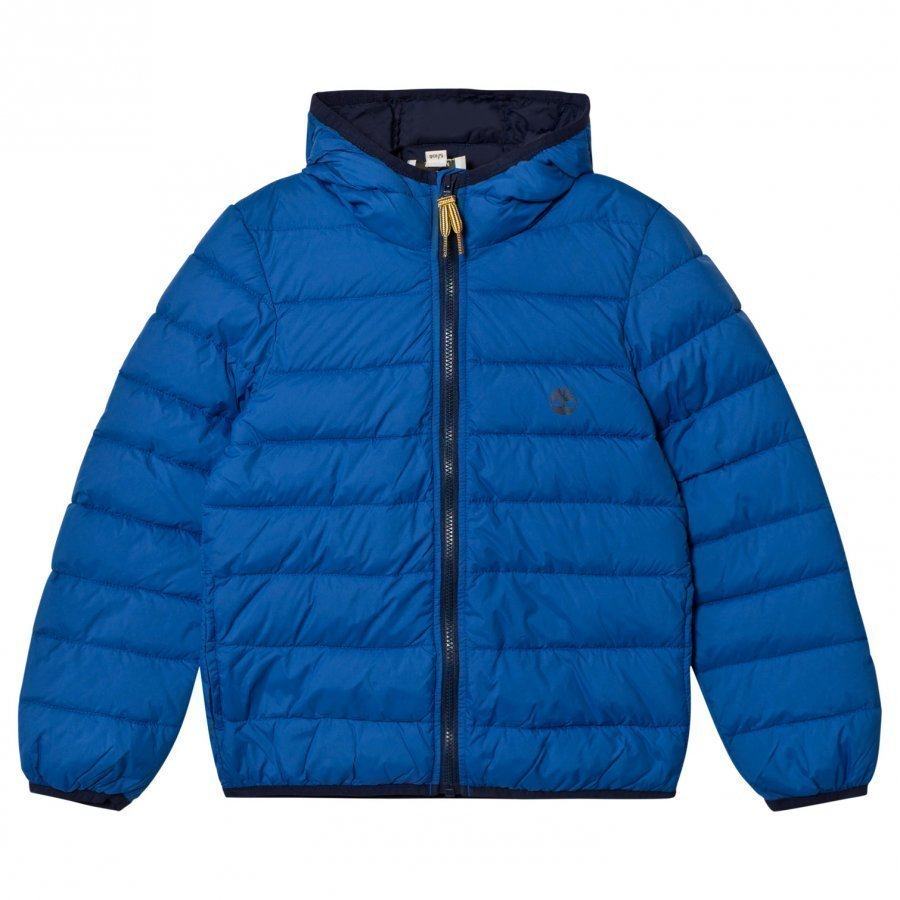 Timberland Royal Blue Water Repellent Ultralight Hooded Puffer Toppatakki