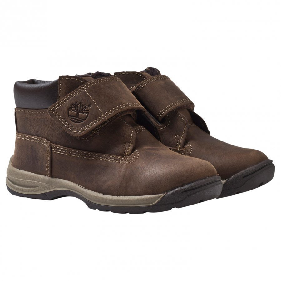 Timberland Timber Tykes Hook & Loop Boot Brown Nubuck Nilkkurit