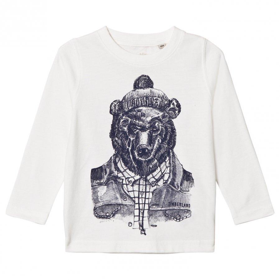 Timberland White Mountain Bear Print Tee T-Paita