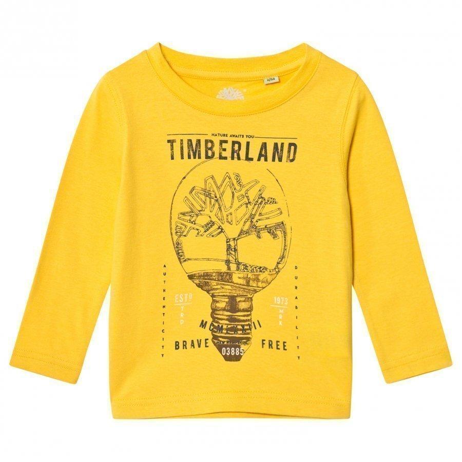 Timberland Yellow Branded Tee T-Paita