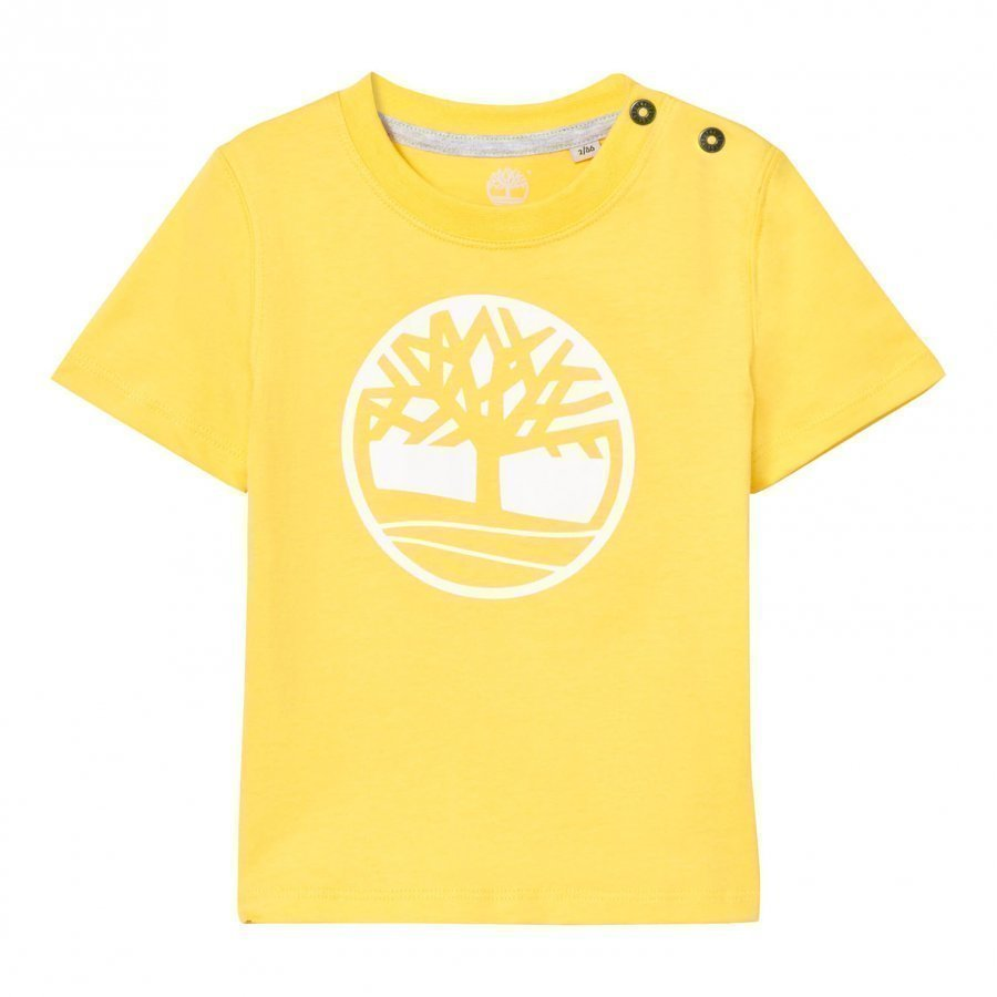 Timberland Yellow Branded Tree Logo Tee T-Paita