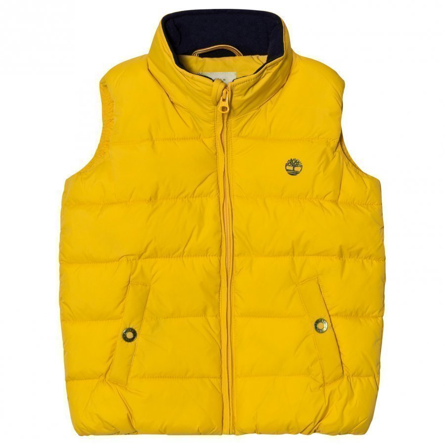Timberland Yellow Puffer Hooded Gilet Toppaliivi