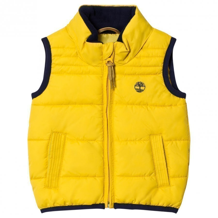 Timberland Yellow Puffer Hooded Vest Toppaliivi