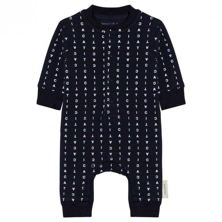 Tinycottons Alphabet Soup Fleece One-Piece Dark Navy/Light Blue Fleece Haalarit