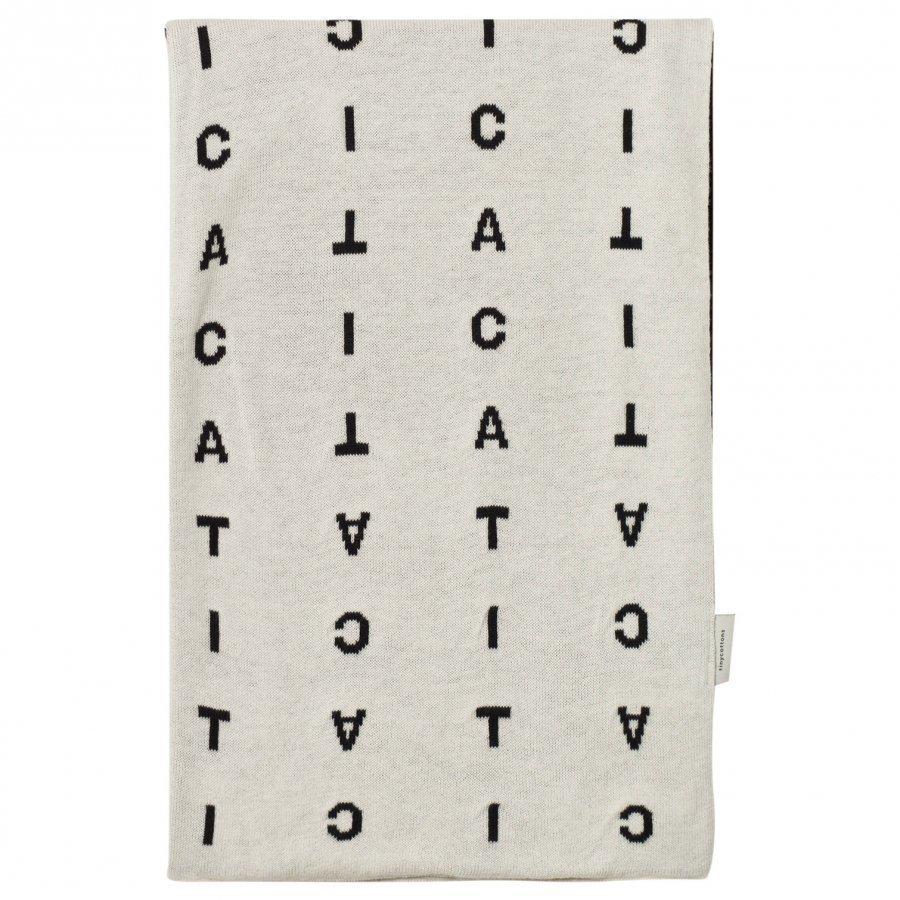 Tinycottons Alphabet Soup Knit Blanket Beige/Black Huopa
