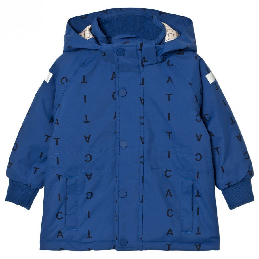 Tinycottons Alphabet Soup Snow Jacket Blue/Dark Navy Toppatakki