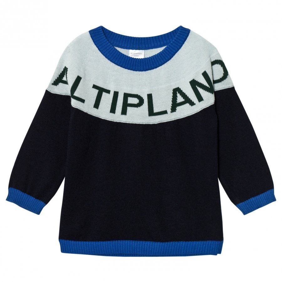 Tinycottons Altiplano Sweater Oversized Dark Navy/Light Blue Oloasun Paita