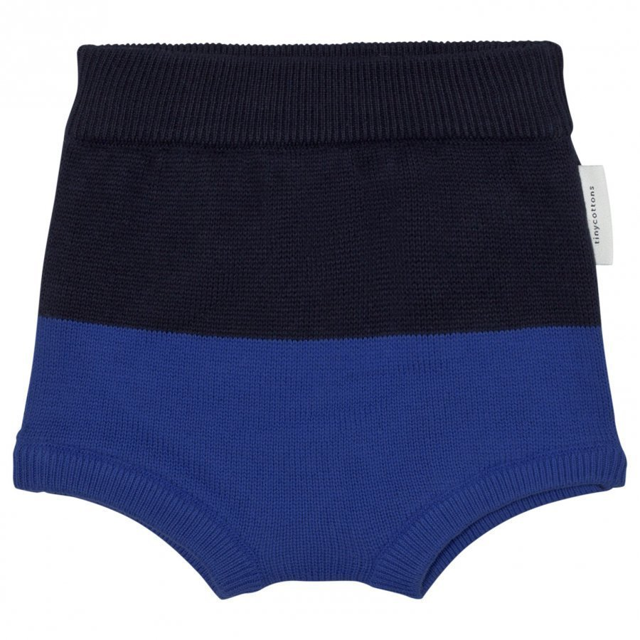 Tinycottons Color Block Baby Bloomer Dark Navy/Blue Vauvan Alushousut
