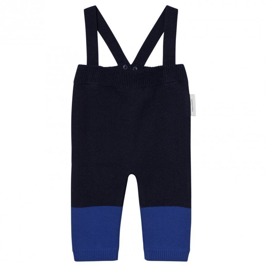 Tinycottons Color Block Baby Pant Dark Navy/Blue Housut