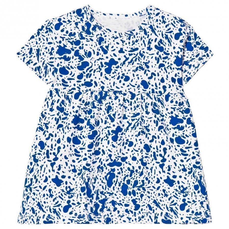 Tinycottons Enamel Oversized Dress Off White/Blue Mekko