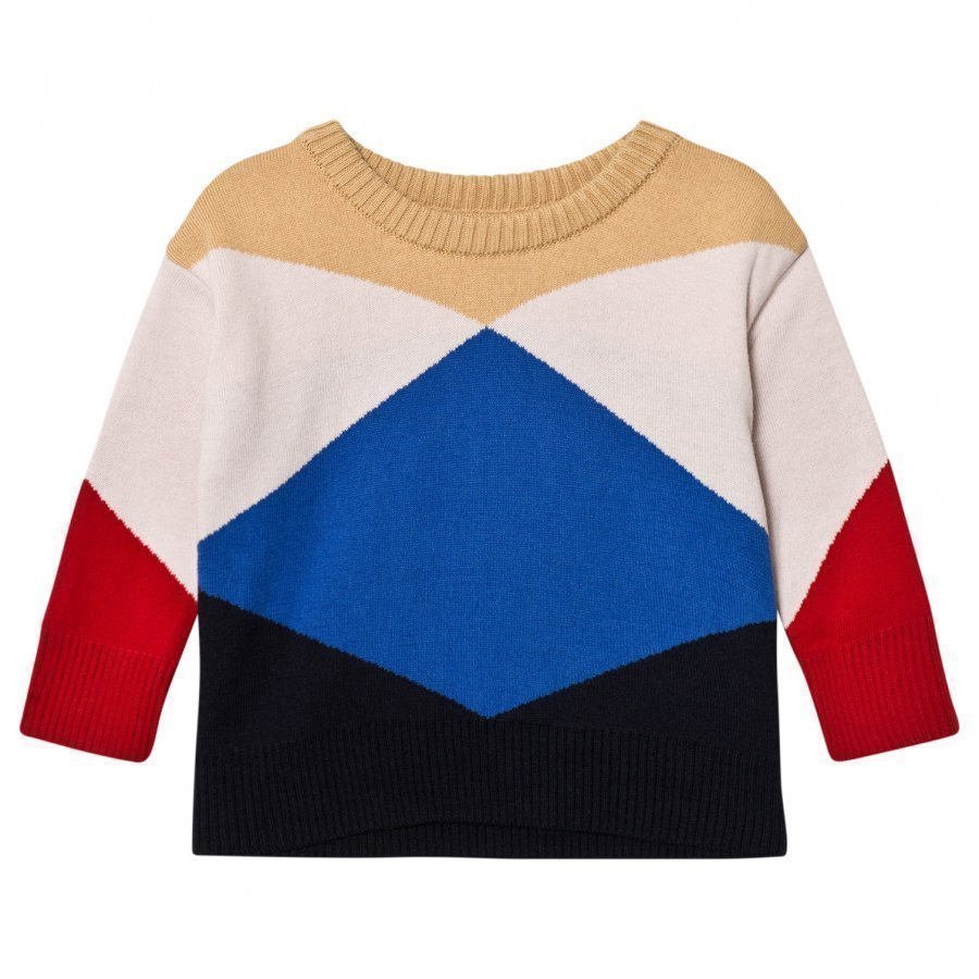Tinycottons Geometric Sweater Nude/Light Pink/Blue/Dark Navy/Red Oloasun Paita