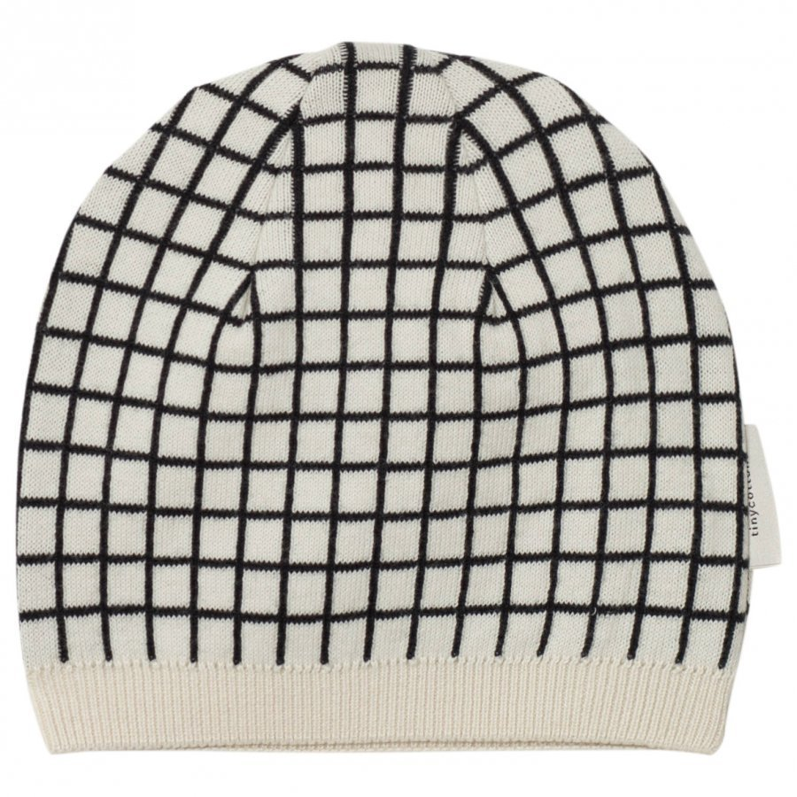 Tinycottons Grid Beanie Beige/Black Pipo
