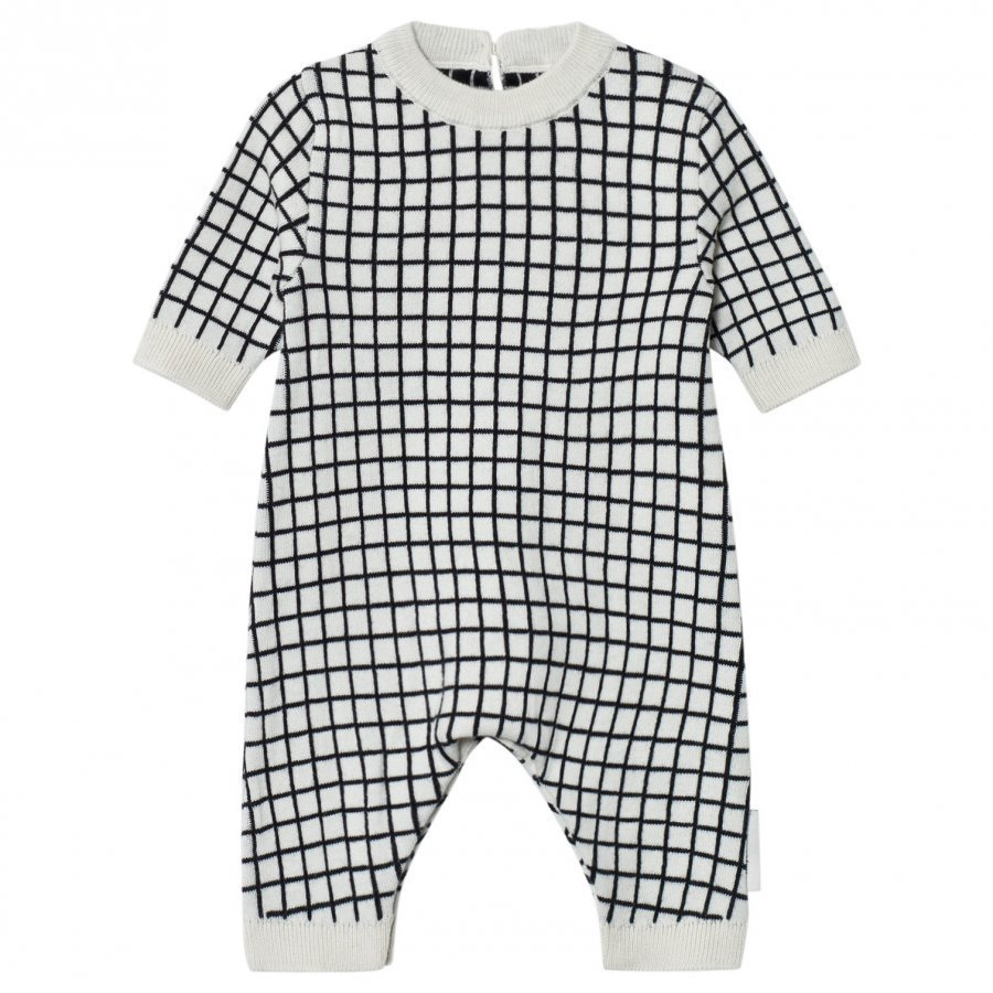 Tinycottons Grid One-Piece Beige/Black Body
