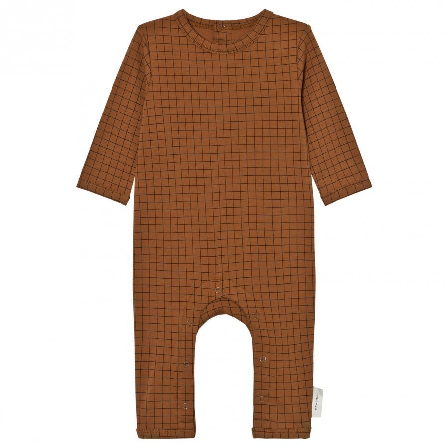 Tinycottons Grid One-Piece Brown/Black Potkupuku