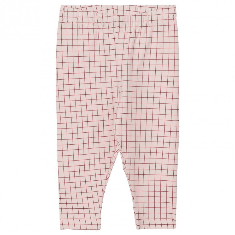 Tinycottons Grid Pant Pale Pink/Red Legginsit