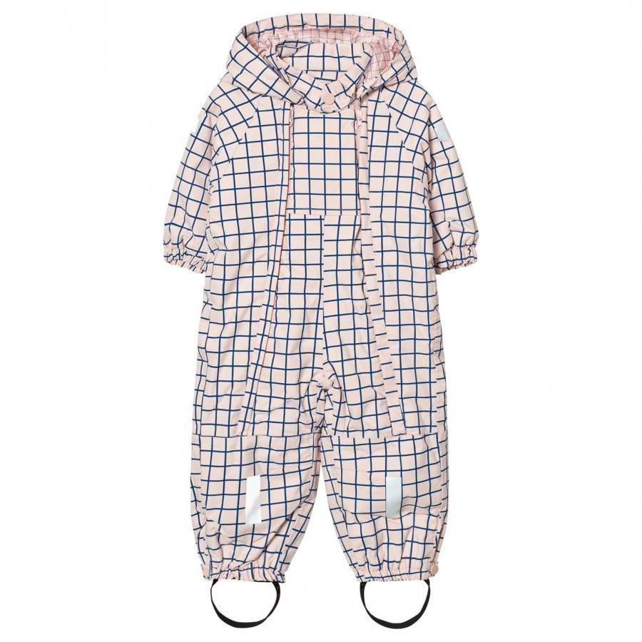 Tinycottons Grid Snow Snowsuit Pale Pink/Blue Toppahaalari