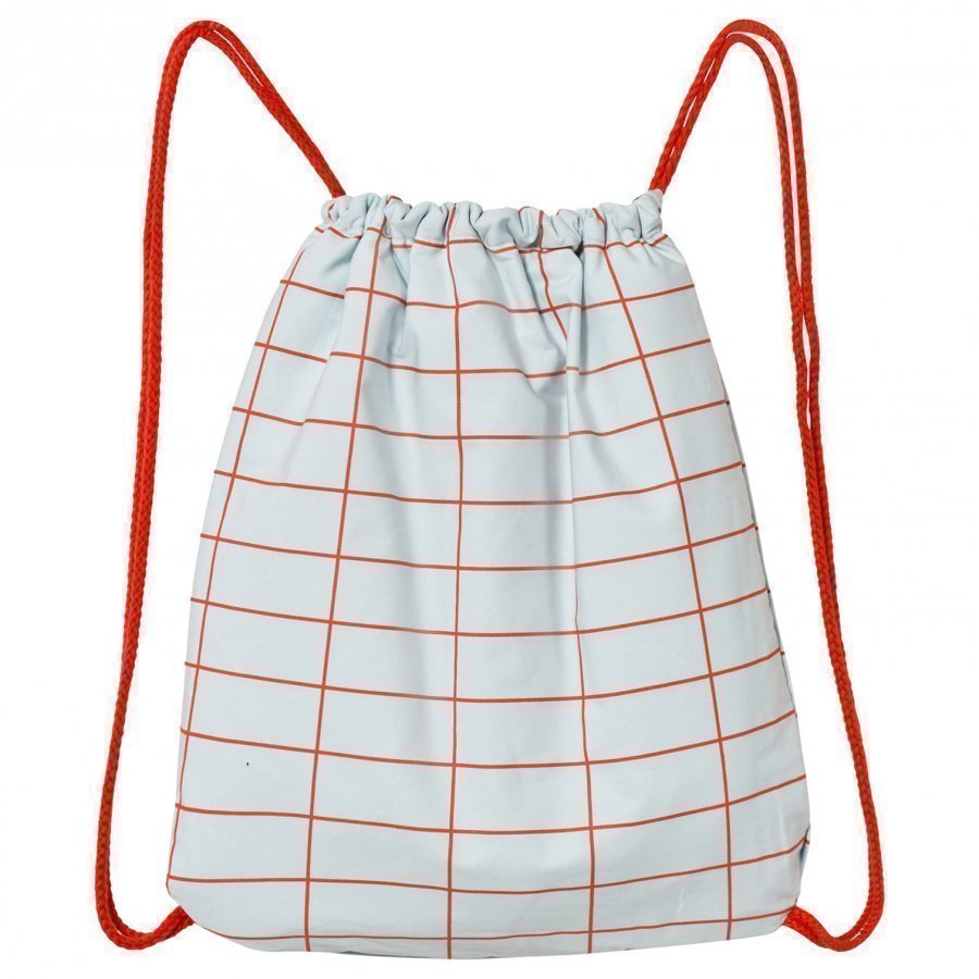 Tinycottons Grid Towel-Bag Light Blue/Red Pyyhe