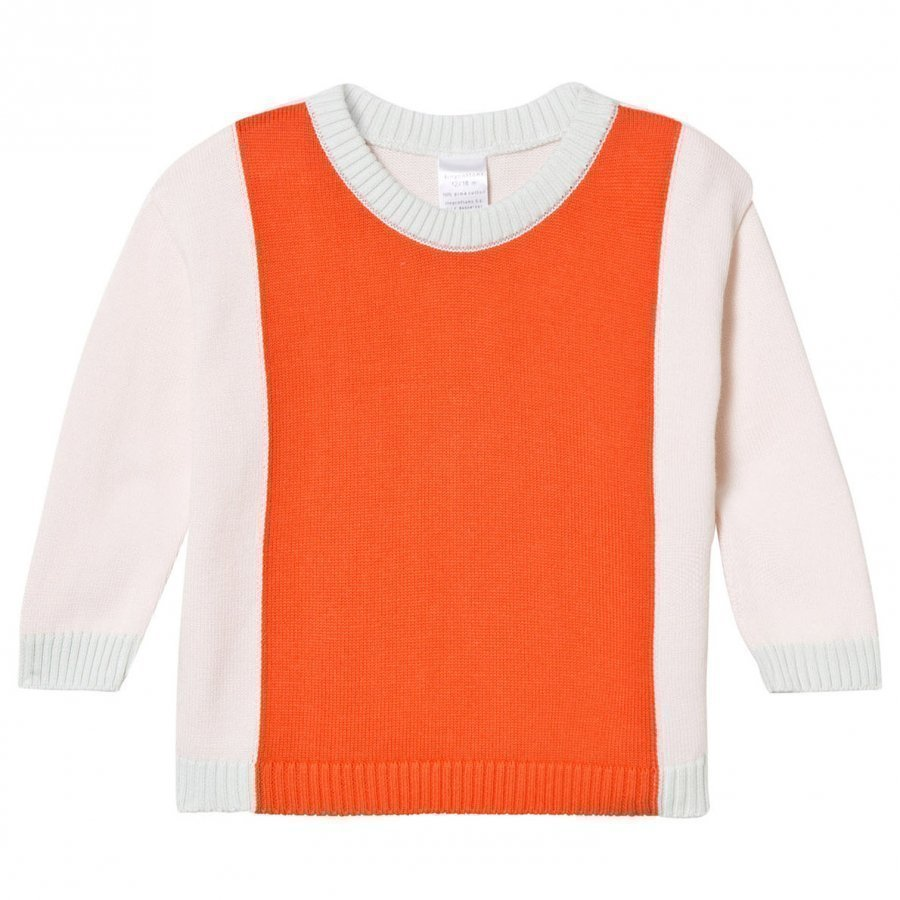 Tinycottons Knit Color Block Sweater Pale Pink/Red Oloasun Paita