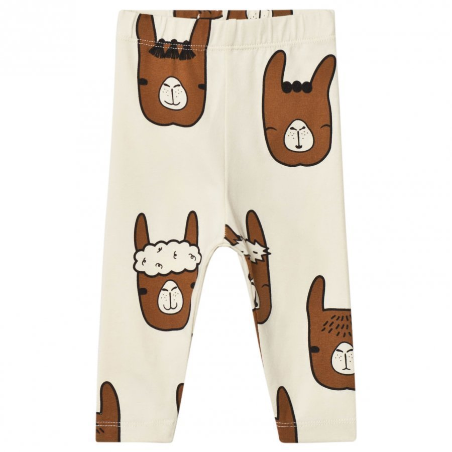 Tinycottons Llama Heads Pants Beige/Brown Legginsit