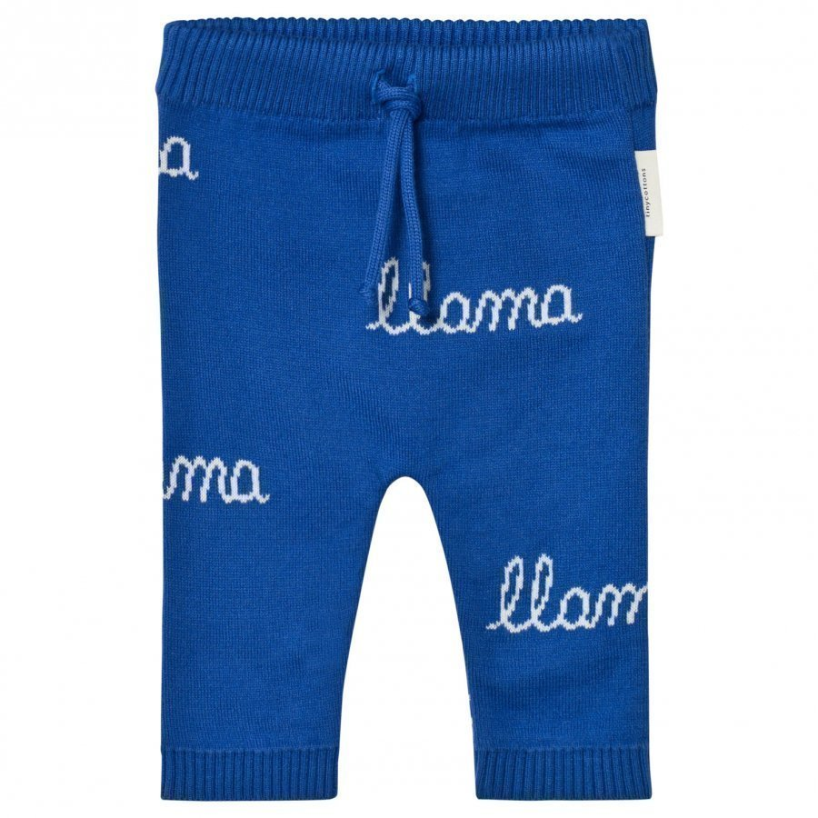 Tinycottons Llama Knit Pant Blue/Light Blue Housut