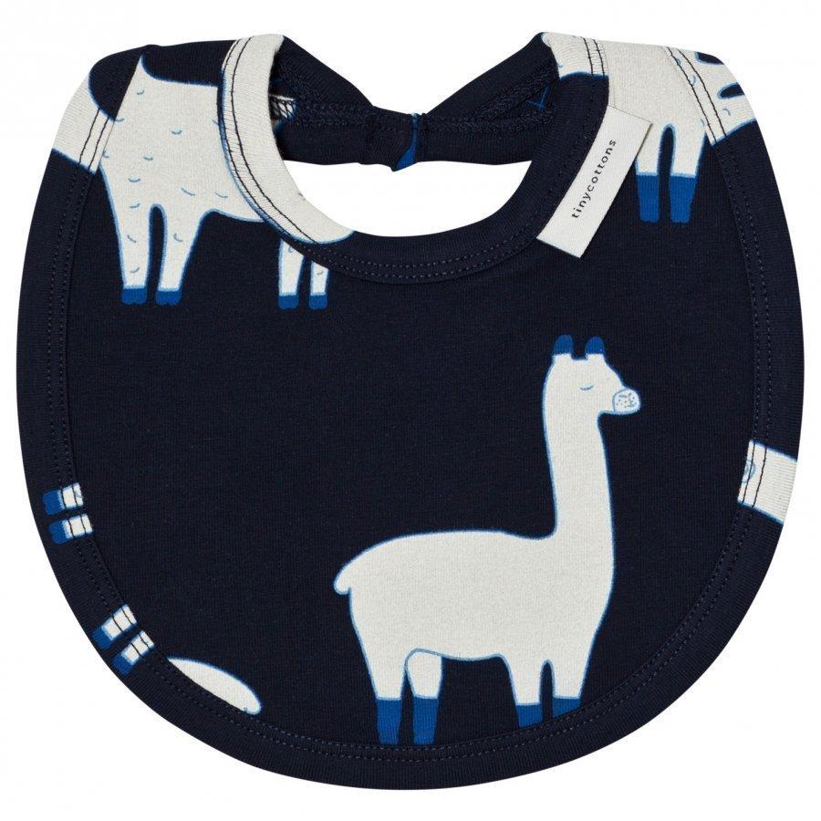 Tinycottons Llamas Bib Dark Navy/Beige Ruokalappu