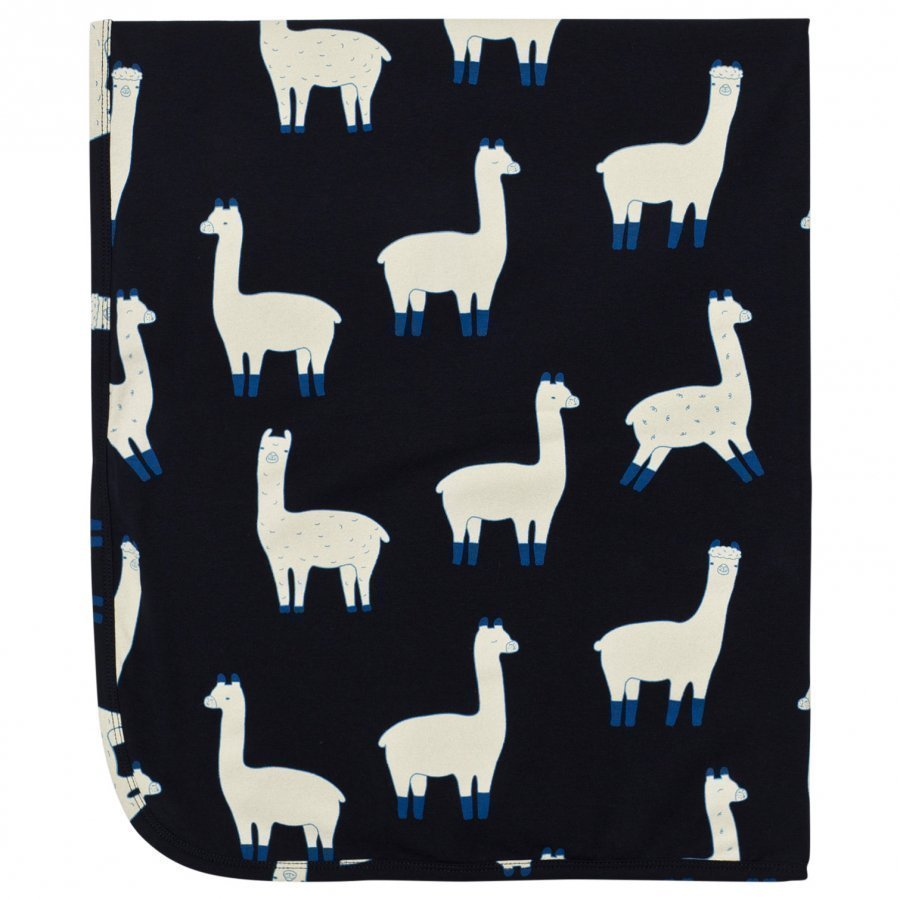Tinycottons Llamas Blanket Dark Navy/Beige Huopa