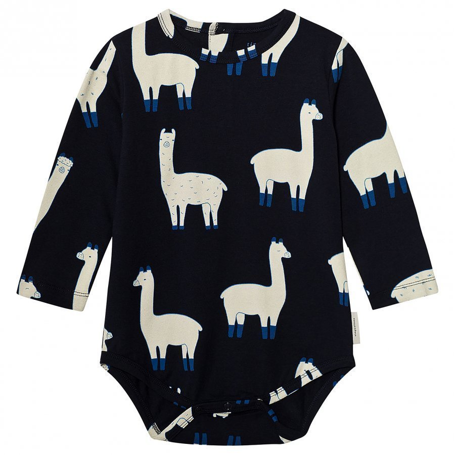 Tinycottons Llamas Long Sleeve Body Dark Navy/Beige Body