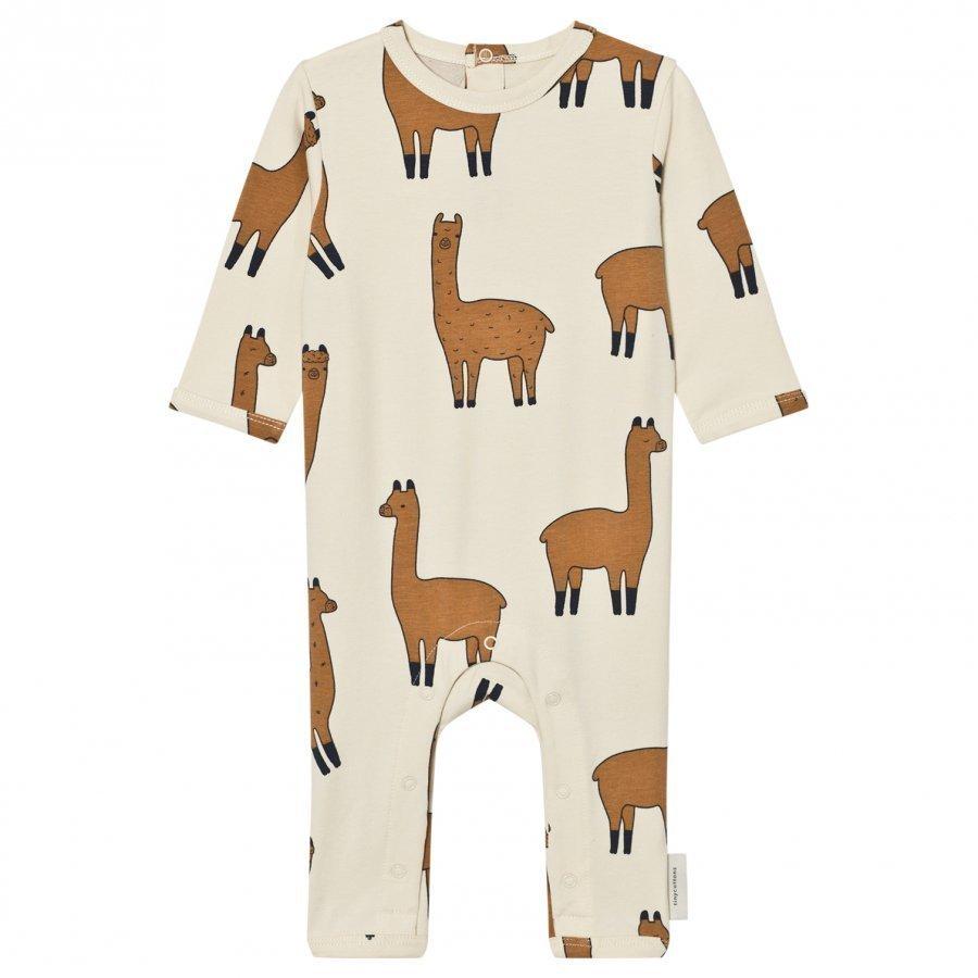 Tinycottons Llamas One-Piece Beige/Nude Potkupuku