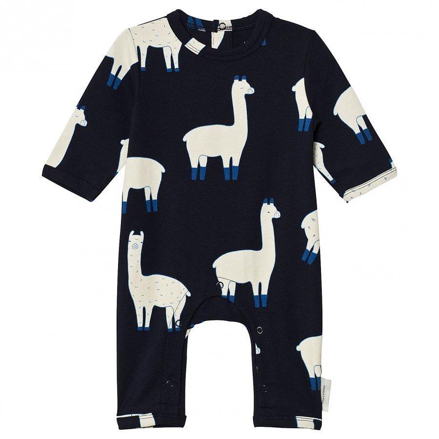 Tinycottons Llamas One-Piece Dark Navy/Beige Potkupuku