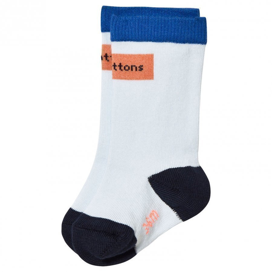 Tinycottons Logo High Socks Light Blue/Dark Peach Sukat