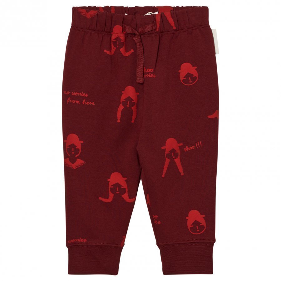 Tinycottons No-Worry Dolls Fleece Sweatpants Bordeaux/Red Fleece Housut