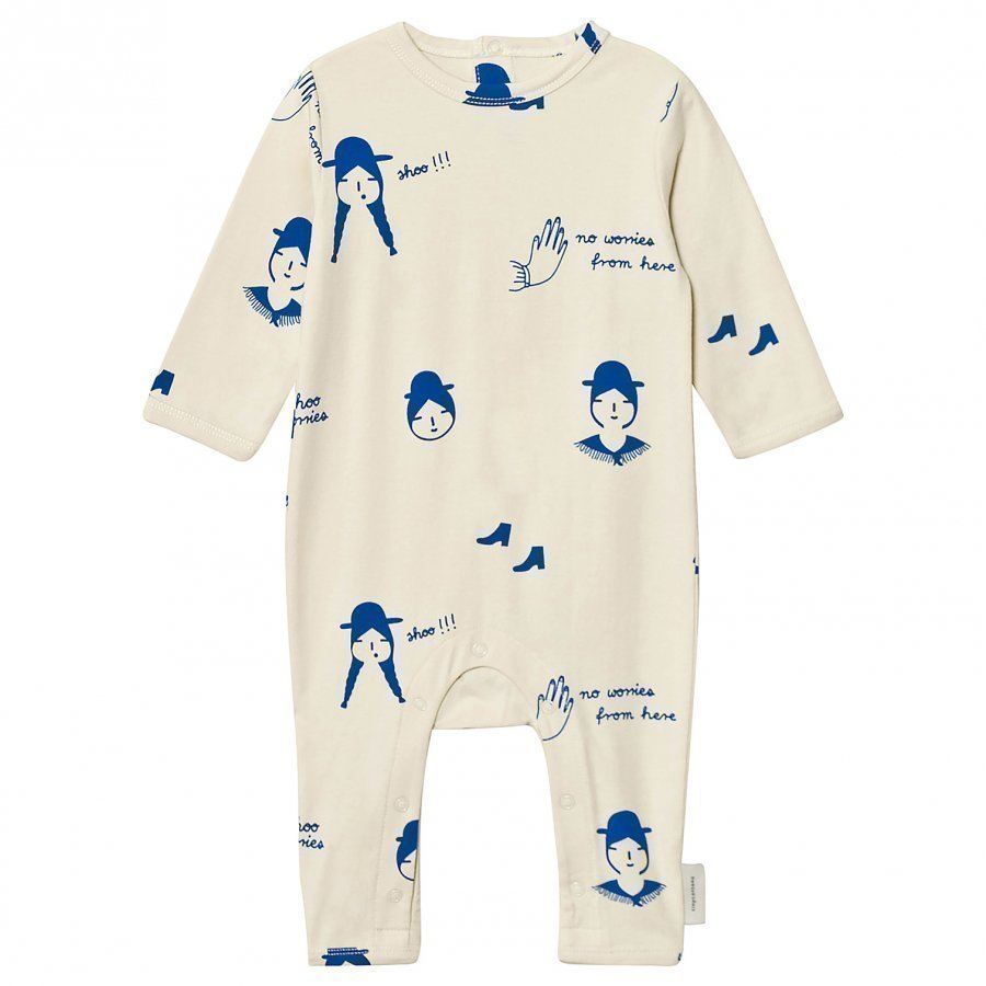 Tinycottons No-Worry Dolls One-Piece Beige/Blue Potkupuku