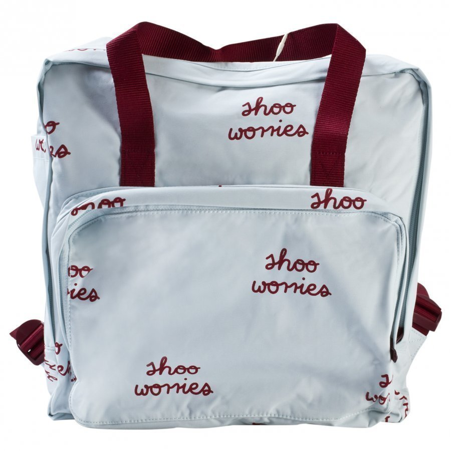 Tinycottons Shoo Worries Backpack Light Blue/Bordeaux Reppu