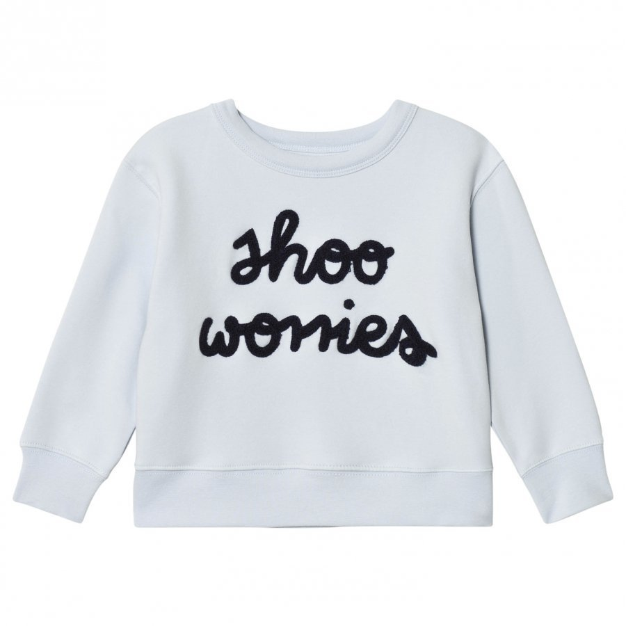 Tinycottons Shoo Worries Graphic Sweatshirt Light Blue/Dark Navy Oloasun Paita