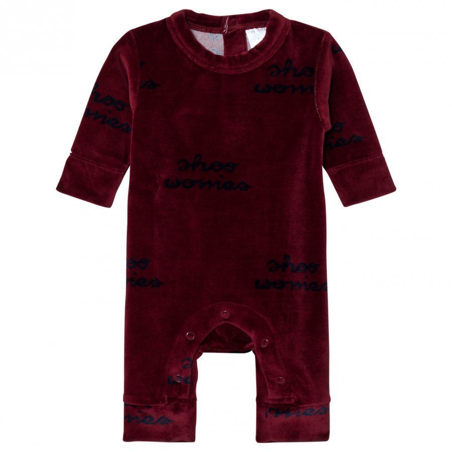 Tinycottons Shoo Worries One-Piece Bordeaux/Dark Navy Potkupuku