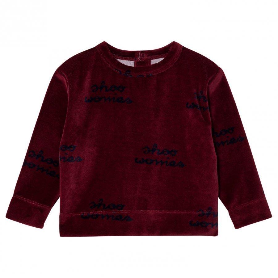 Tinycottons Shoo Worries Sweatshirt Bordeaux/Dark Navy Oloasun Paita