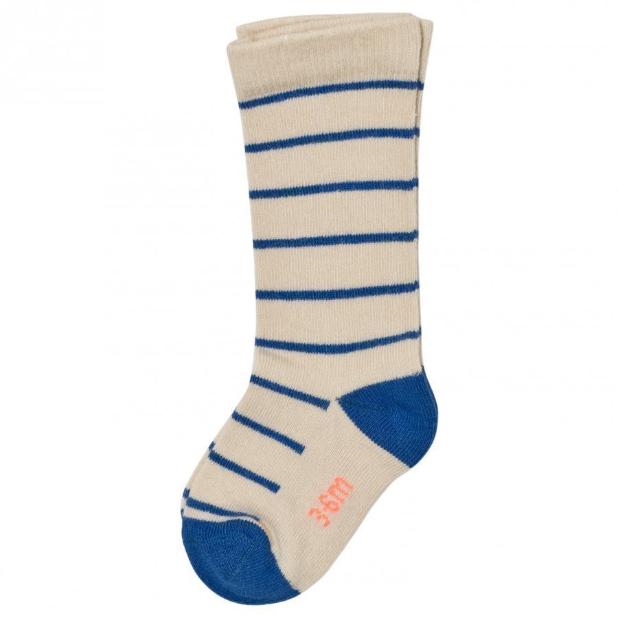 Tinycottons Stripes High Socks Beige/Blue Sukat