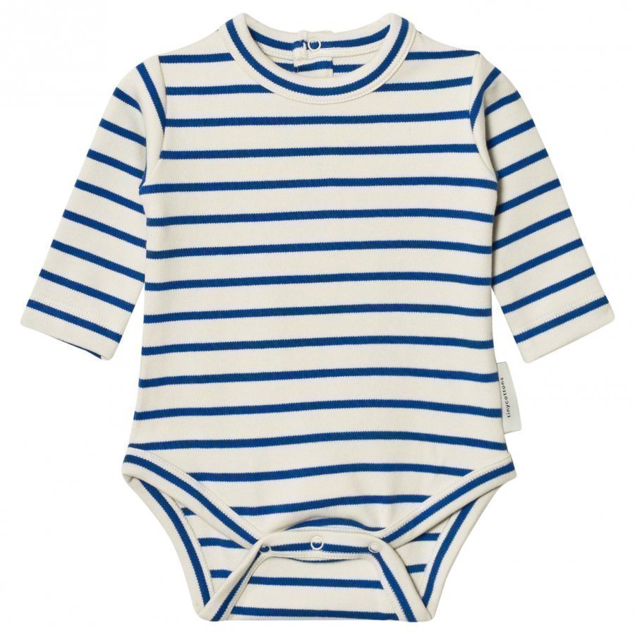 Tinycottons Stripes Long Sleeve Baby Body Beige/Blue Body