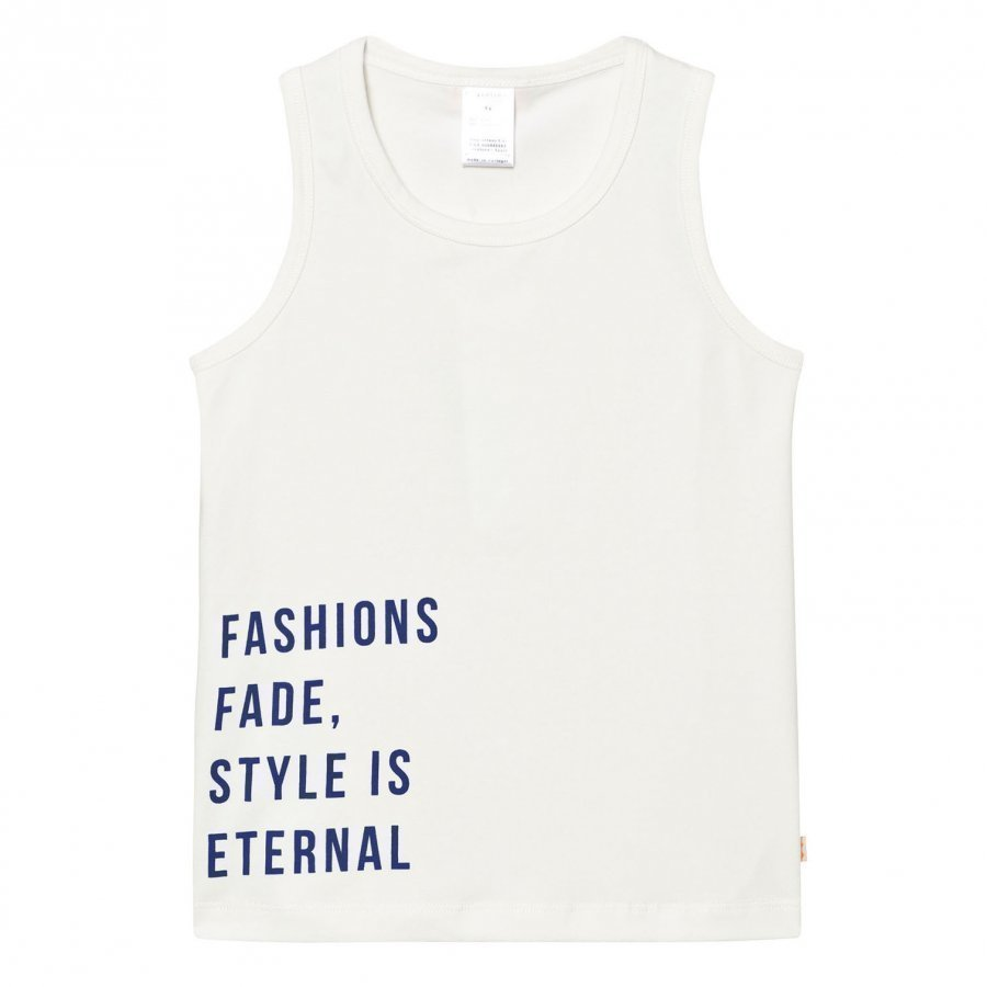 Tinycottons Style Is Eternal Gr Tank Top Off White/Blue Liivi